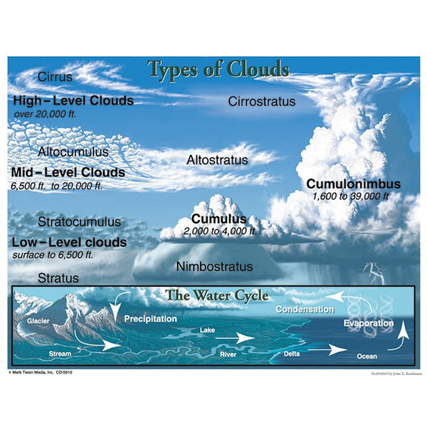 Earth Science-Climate-Cloud Types-Bulletin Board Chart-Science Fun