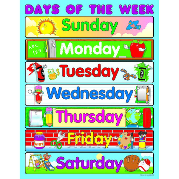 Days of the Week Learning Chart - Seasonal Expressions