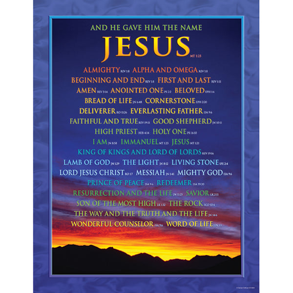 Bulletin Board Chart-Christian-Names of Jesus