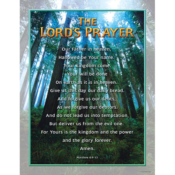 Bulletin Board Chart-Christian-The Lord's Prayer