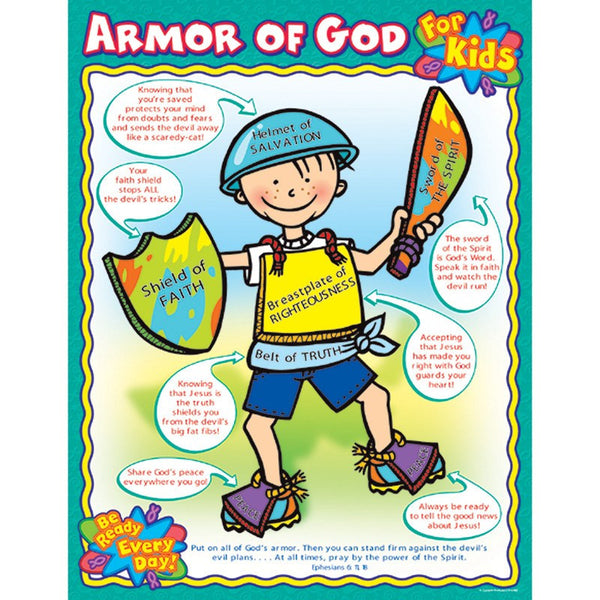 Bulletin Board Chart-Christian-Armor of God