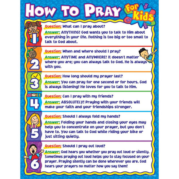 Bulletin Board Chart-Christian-How To Pray