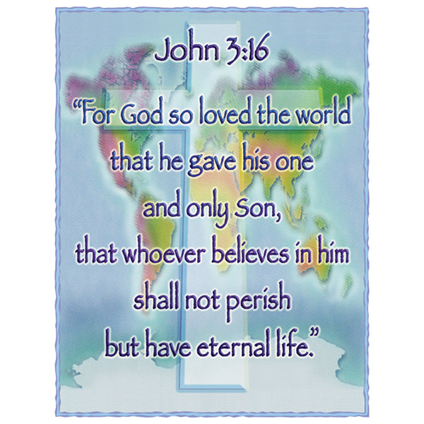Bulletin Board Chart-Christian-John 3:16
