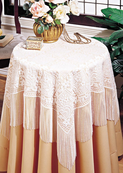 Table Linen-58x58-Table Topper-Heritage Lace-Chantilly