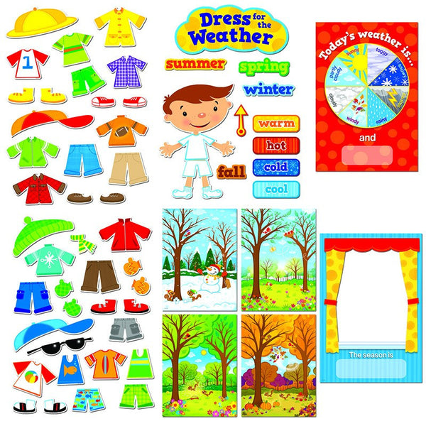 Bulletin Board Set, Dress for the Weather - Seasonal Expressions