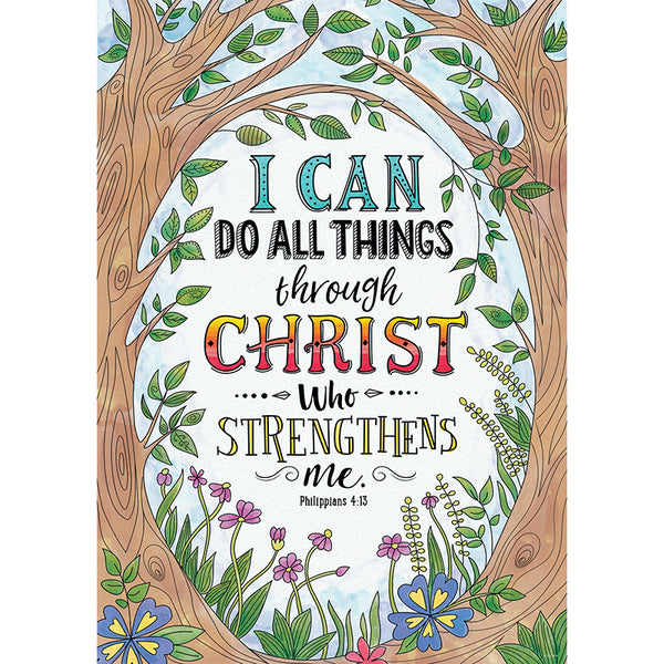 Chart and Posters-Christian-Phillippians 4:13-Rejoice