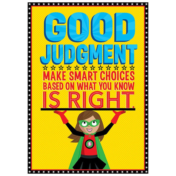 Bulletin Board Chart-Character Building-Superhero-Good Judgement