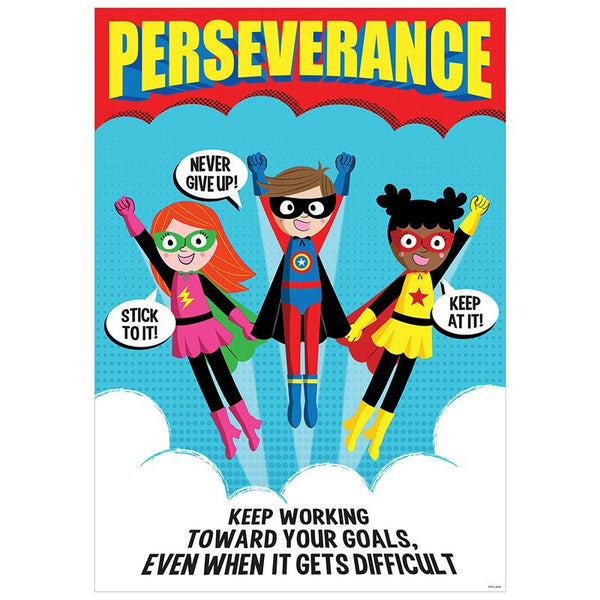 Character Building-Motivational-Perseverance-Super Hero Poster