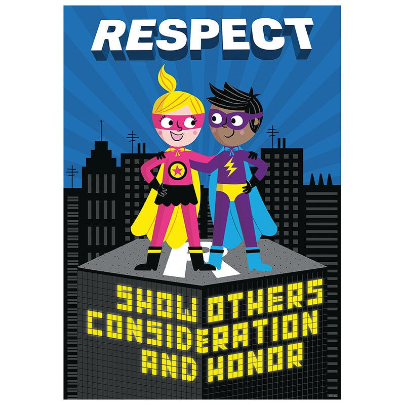 Bulletin Board Chart-Character Building-Superhero-Respect