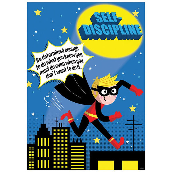 Bulletin Board Chart-Character Building-Superhero-Self-Discipline