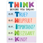 Bulletin Board Chart-Character Building-Think Before You Speak