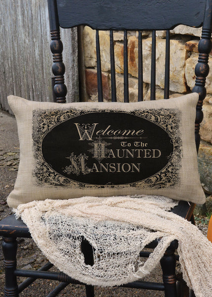 Halloween-Seasonal-Throw Pillow-Curiosities-Haunted Mansion-Heritage Lace