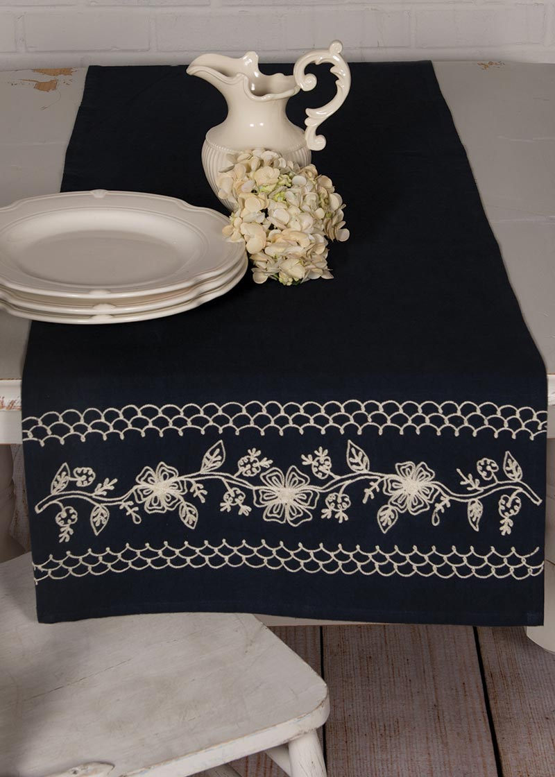 Table Linen-Runner-Dresser Scarf-20x68-Cambria-Heritage Lace