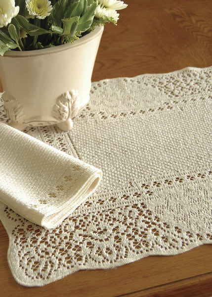 Table Linen-Placemats-14x19-Set of 6-Canterbury Classic-Heritage Lace