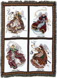 Christian Decor-Choice-Tapestry-Wall Hanging-Throw-Celestial Angels