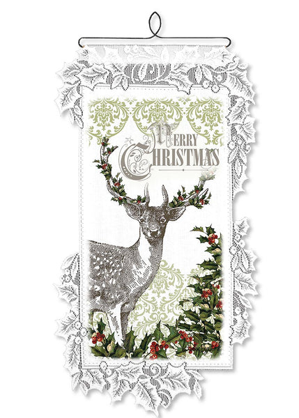 Wall Hanging-Rustic-Seasonal-Christmas-Heritage Lace