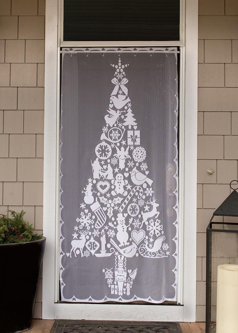 Lace Panel-Christmas Tree-Heritage Lace