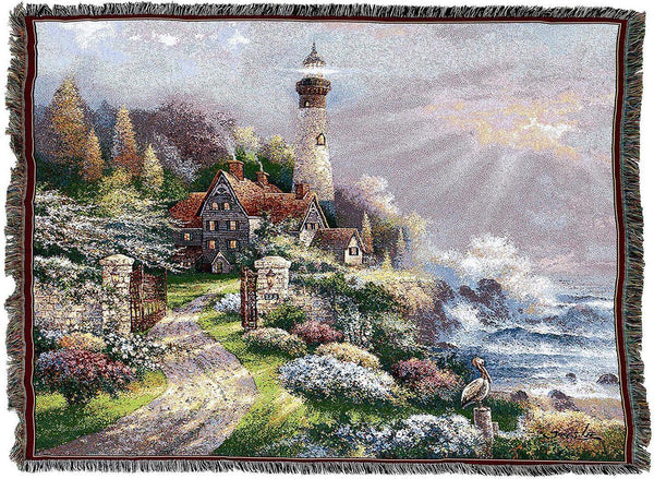 Throw Blanket-Woven Tapestry-Coastal Splendor