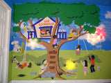 Treetop Clubhouse, a DIY Paint by Number Wall Mural by Elephants on the Wall - Seasonal Expressions - 1