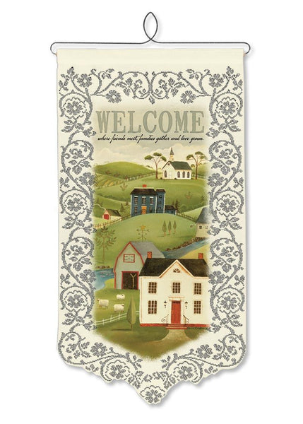 Country Home Welcome, a Wallhanging from Heritage Lace - Expressions of Home