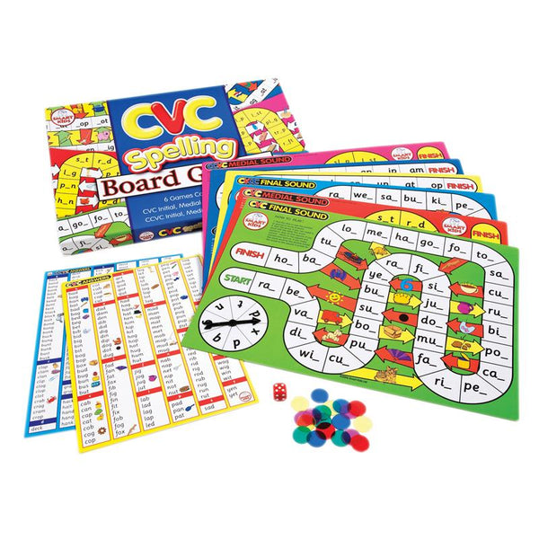 Educational Game-CVC Spelling Board Games