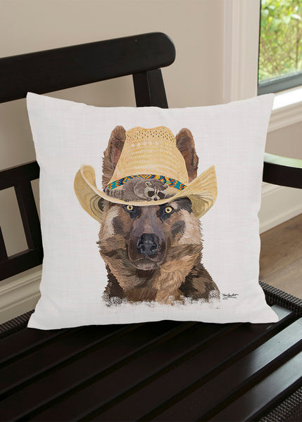 Throw Pillow-18x18-Matching Table Runner-14x54-Heritage Lace-Dapper Dogs-German Shepherd