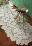 Table Linen-Runner-Dresser Scarf-Set of 2-Dogwood-Heritage Lace