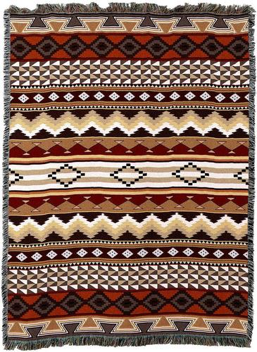 Throw Blanket-54 x 72-Matching-Throw Pillow-Southwest-Domingo