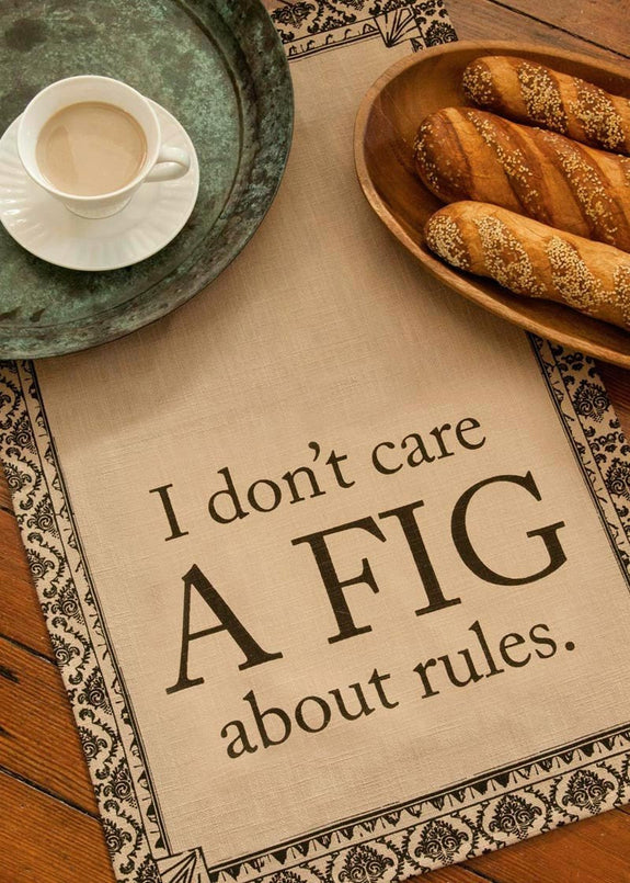 "Downton Abbey ""Life A Fig"" Tea Towel from Heritage Lace - Expressions of Home"
