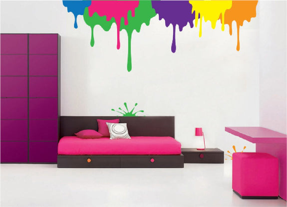 Drips a Splat a DIY Paint by Number Wall Mural by Elephants on