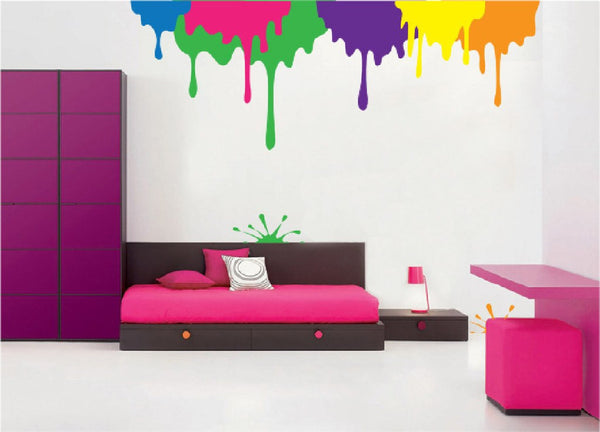 Drips & a Splat, a DIY Paint by Number Wall Mural by Elephants on the Wall - Expressions of Home