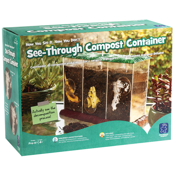 Educational-Kids and Nature-See Through Compost Container