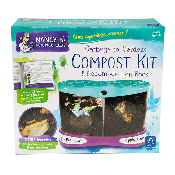 Compost Kit-Kids-Nancy B Science Club-Garbage To Gardens-Nature Lover