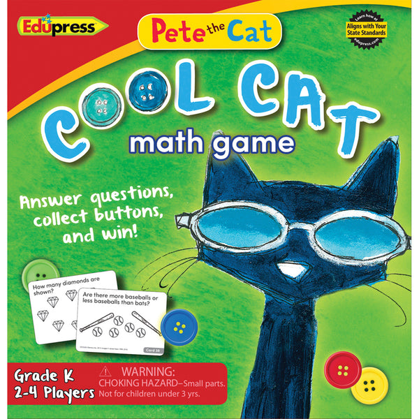 Math Fun-Educational Game-Pete the Cat-Cool Cat Math Game-Ages 5 Plus