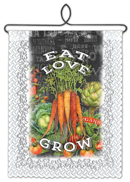 Wall Hanging-Cozy Home-Heritage Lace-Eat-Love-Grow