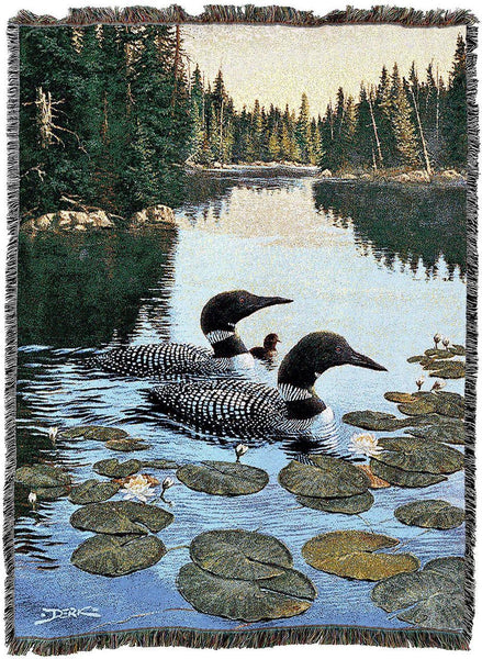 Throw Blanket-54 x 72-Rustic-Enchanted Passage-Loons