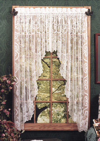Curtains-Swag-Pair-86 x 63-Heritage Lace-English Ivy