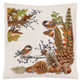 Table Linen-Table Runner-Matching Pillows-Seasonal-Autumn-Chicadees