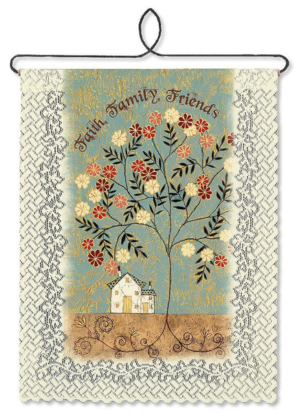 Faith, Family, Friends a Heritage Lace Wallhanging - Expressions of Home