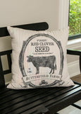 Throw Pillow-22x22-Farmhouse-Butterfield Farms-Matching Table Runner-Country Life-Heritage Lace