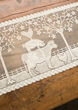 Table Linen-Runner-Dresser Scarf-Set of 2-Farmhouse-Country Life-Heritage Lace