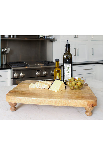 Wood Footed Serving Board-Farmhouse-Country Life-Heritage Lace