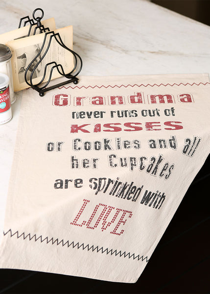 Tea Towels-Set of Two-Farmhouse-Grandma-Heritage Lace