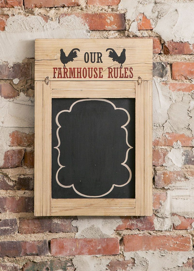 Farmhouse Rules-Blackboard-Decor-Country Life-Heritage Lace