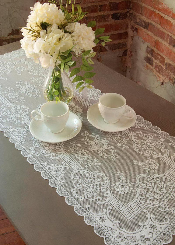 Table Linen-Table Runner-Dresser Scarf-Filigree-Heritage Lace