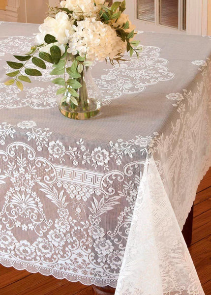 Table Linen-Tablecloth-Table Topper-Rectangle-Round-Filigree-Heritage Lace