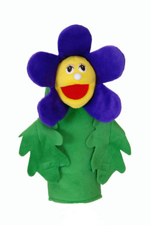 Flower Puppets- With Rods-Paige Purple Flora Flower-Imaginative Children