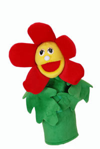 Flower Puppets- With Rods-Rosie Red Flower-Imaginative Children