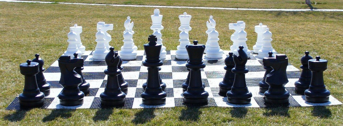 "Garden Chessmen-25""-King-120x120 Board-Outdoor Family Game"
