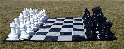 "Garden Chess Set-104 inch Square Mat-25""-King"